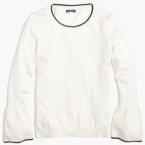 J.Crew Factory Tipped Flare Sleeve Sweater